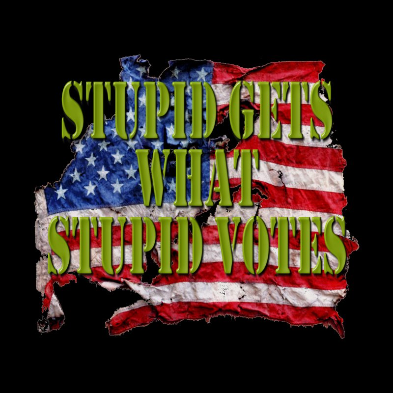 STUPID GETS.. Stars and Stripes by Paparaw's T-Shirt Design