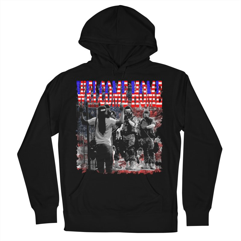 Welcome Home USA Men's Pullover Hoody by Paparaw's T-Shirt Design