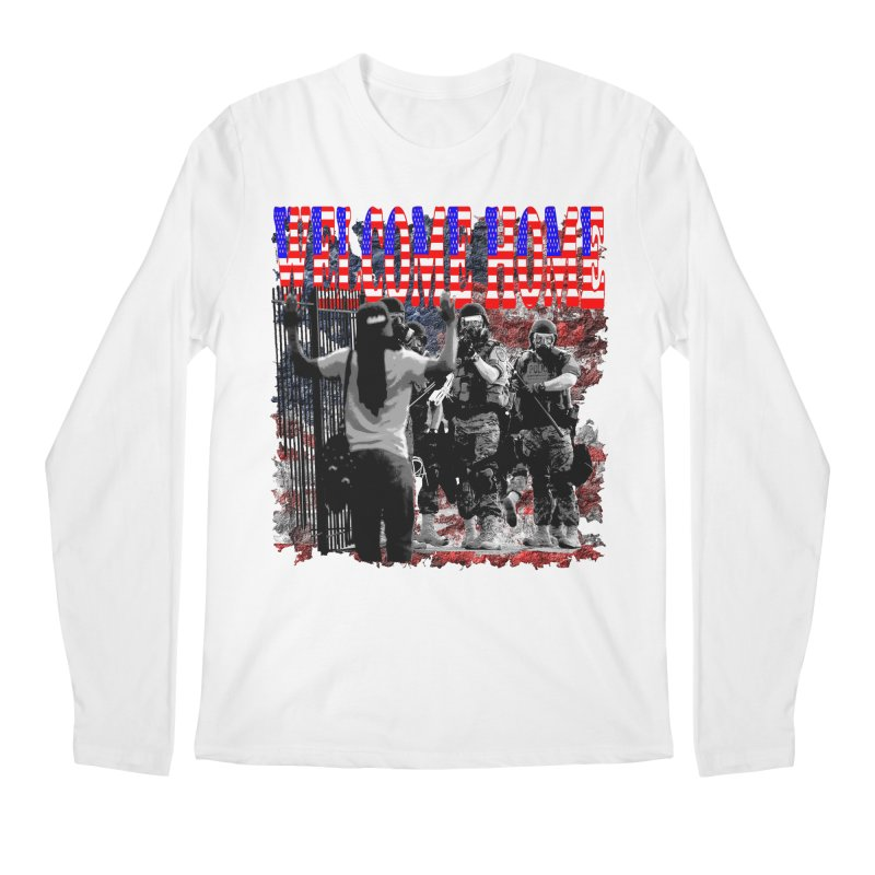 Welcome Home USA Men's Longsleeve T-Shirt by Paparaw's T-Shirt Design