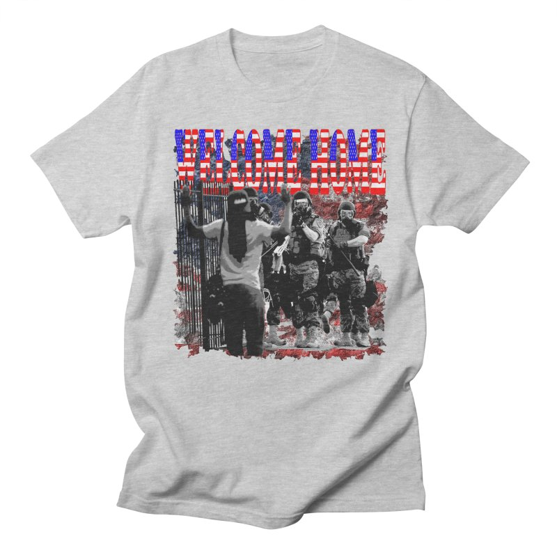 Welcome Home USA Men's T-Shirt by Paparaw's T-Shirt Design