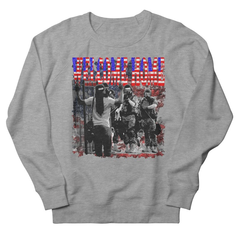 Welcome Home USA Women's Sweatshirt by Paparaw's T-Shirt Design