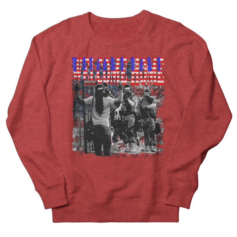 Welcome Home USA Men's Sweatshirt by Paparaw's T-Shirt Design