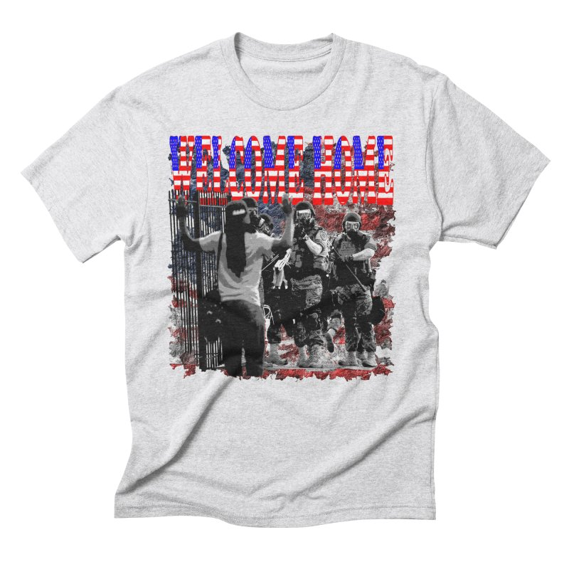 Welcome Home USA Men's Triblend T-Shirt by Paparaw's T-Shirt Design
