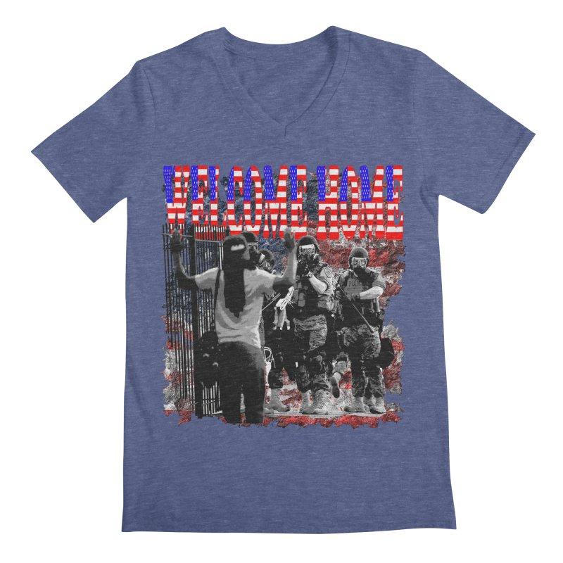Welcome Home USA Men's V-Neck by Paparaw's T-Shirt Design