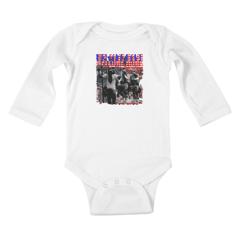 Welcome Home USA Kids Baby Longsleeve Bodysuit by Paparaw's T-Shirt Design