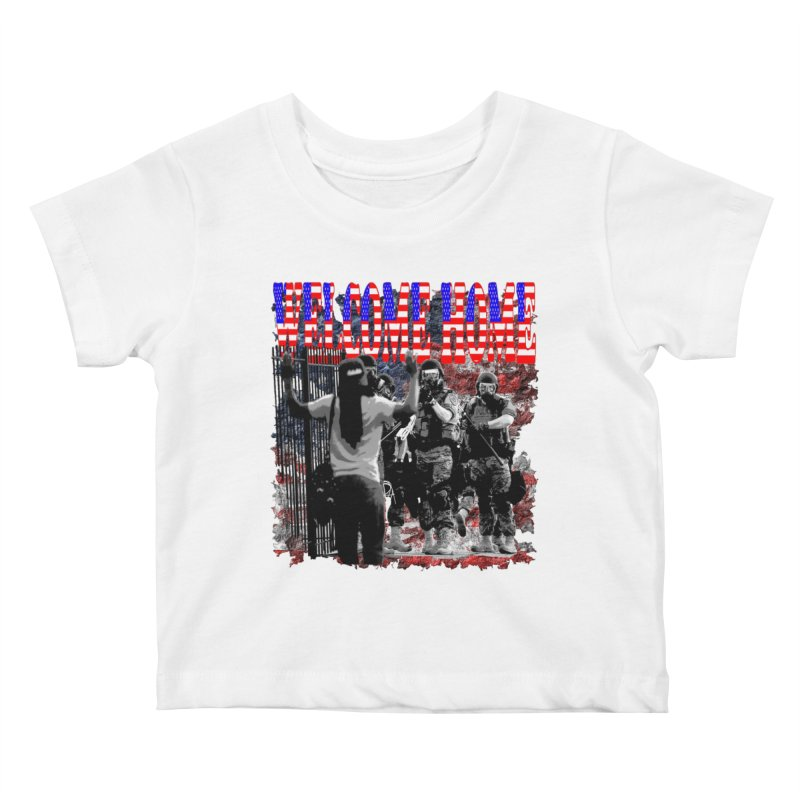 Welcome Home USA Kids Baby T-Shirt by Paparaw's T-Shirt Design