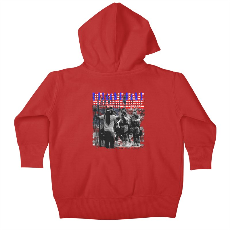 Welcome Home USA Kids Baby Zip-Up Hoody by Paparaw's T-Shirt Design