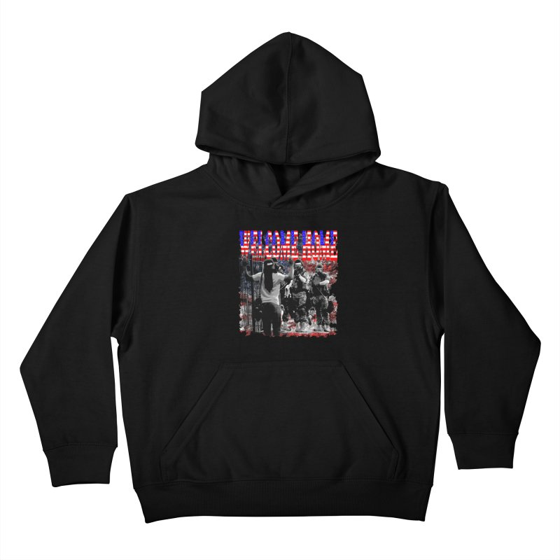 Welcome Home USA Kids Pullover Hoody by Paparaw's T-Shirt Design