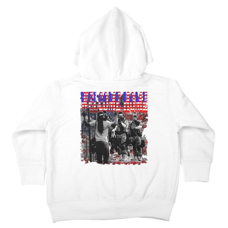 Welcome Home USA Kids Toddler Zip-Up Hoody by Paparaw's T-Shirt Design