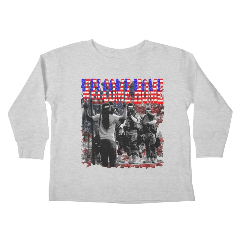 Welcome Home USA Kids Toddler Longsleeve T-Shirt by Paparaw's T-Shirt Design