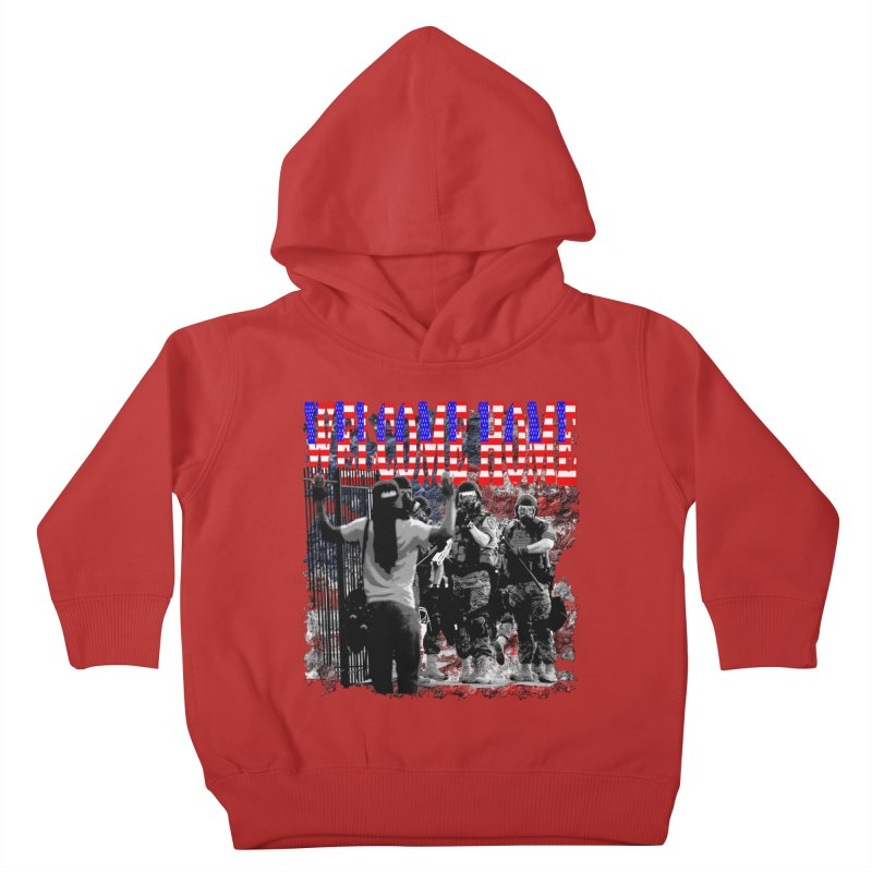 Welcome Home USA Kids Toddler Pullover Hoody by Paparaw's T-Shirt Design