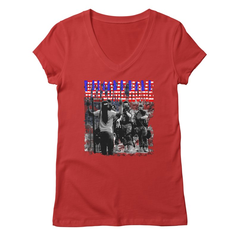 Welcome Home USA Women's V-Neck by Paparaw's T-Shirt Design