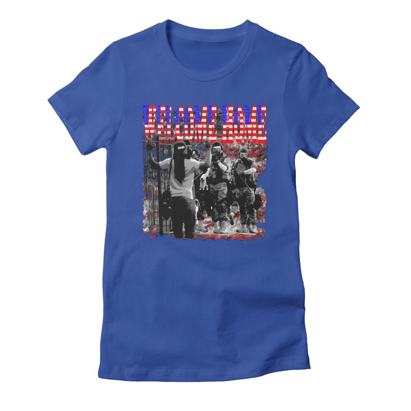 Welcome Home USA Women's Fitted T-Shirt by Paparaw's T-Shirt Design