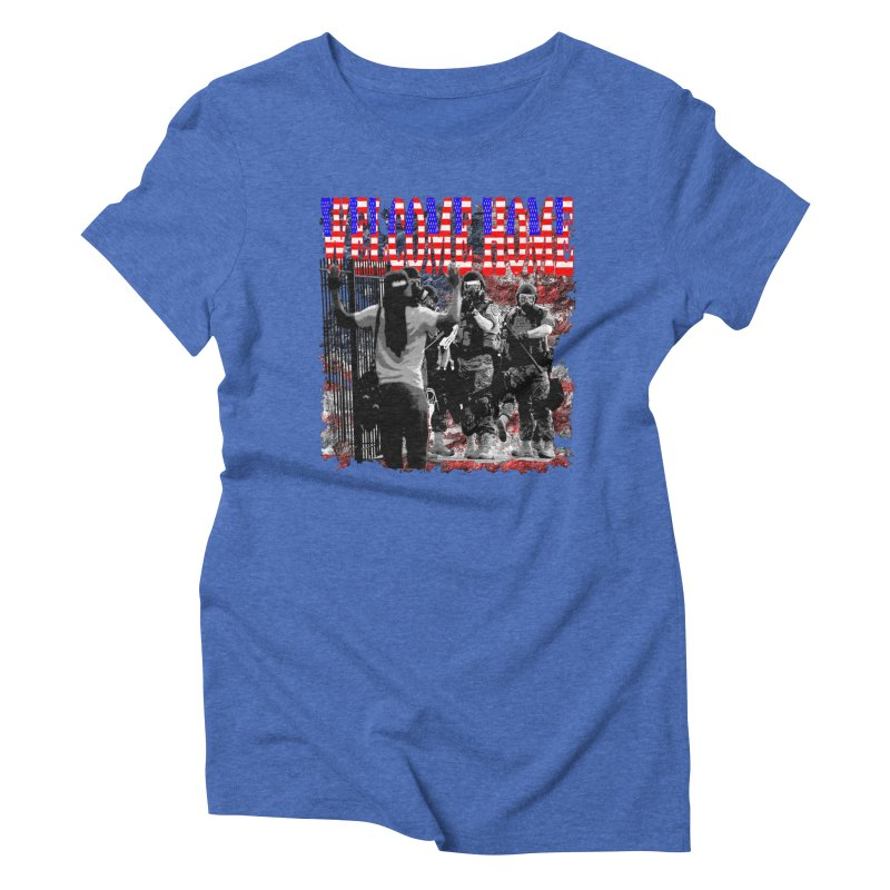 Welcome Home USA Women's Triblend T-shirt by Paparaw's T-Shirt Design