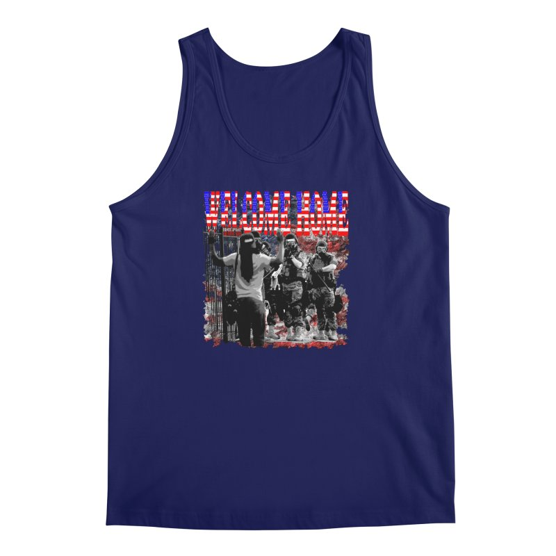 Welcome Home USA Men's Tank by Paparaw's T-Shirt Design