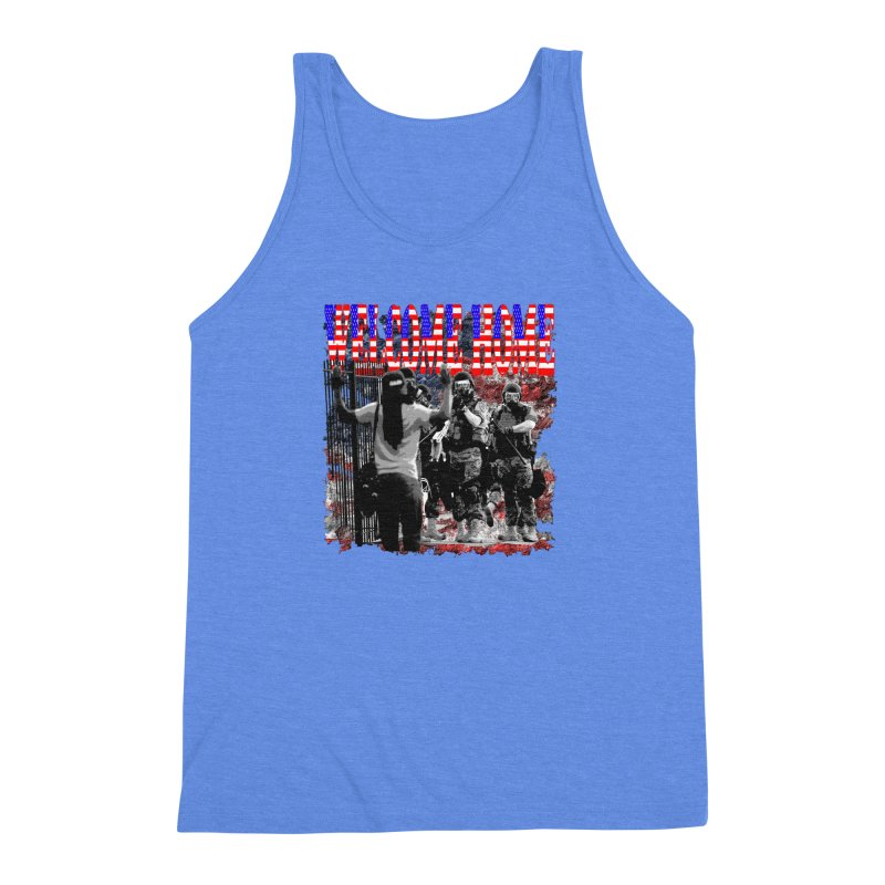 Welcome Home USA Men's Triblend Tank by Paparaw's T-Shirt Design