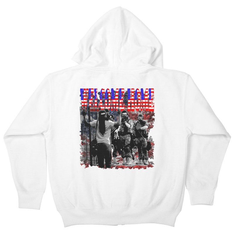 Welcome Home USA Kids Zip-Up Hoody by Paparaw's T-Shirt Design