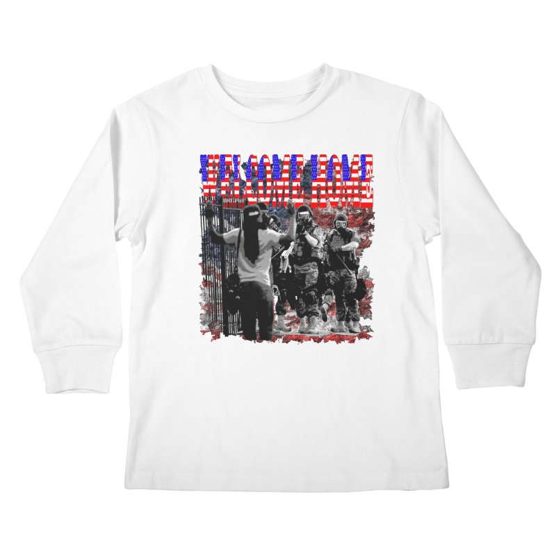 Welcome Home USA Kids Longsleeve T-Shirt by Paparaw's T-Shirt Design