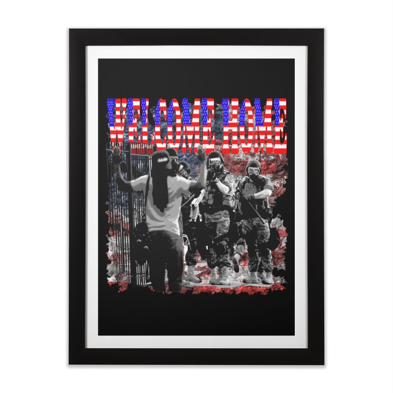 Welcome Home USA Home Framed Fine Art Print by Paparaw's T-Shirt Design