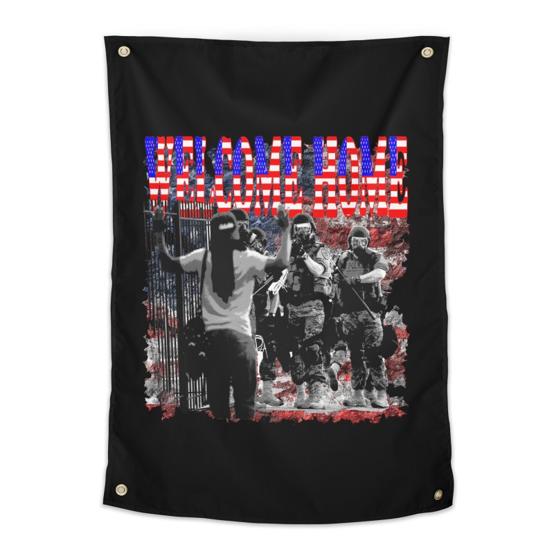 Welcome Home USA Home Tapestry by Paparaw's T-Shirt Design