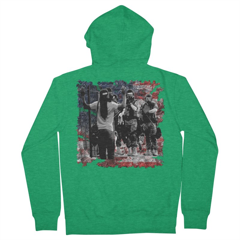 BROKEN NATION? Women's Zip-Up Hoody by Paparaw's T-Shirt Design