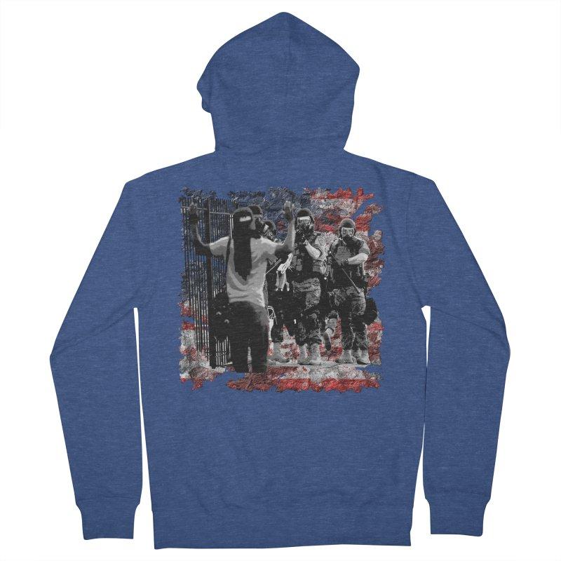 BROKEN NATION? Women's Zip-Up Hoody by Paparaw's T-Shirt Design