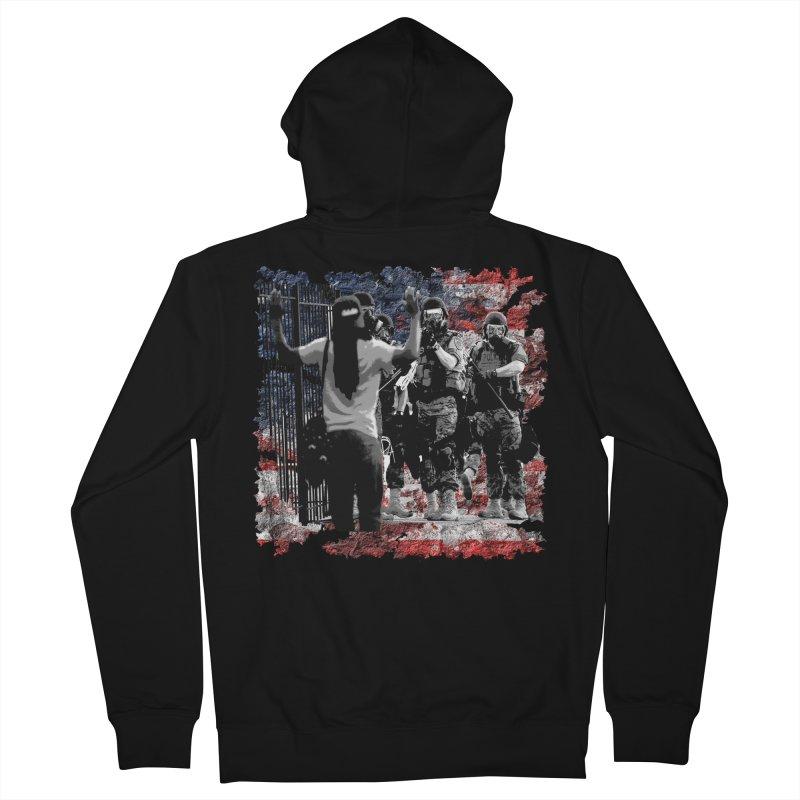 BROKEN NATION? Men's Zip-Up Hoody by Paparaw's T-Shirt Design