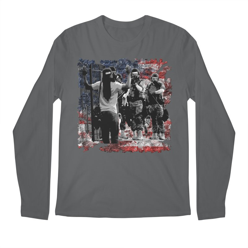 BROKEN NATION? Men's Longsleeve T-Shirt by Paparaw's T-Shirt Design