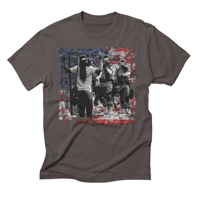 BROKEN NATION? Men's Triblend T-Shirt by Paparaw's T-Shirt Design