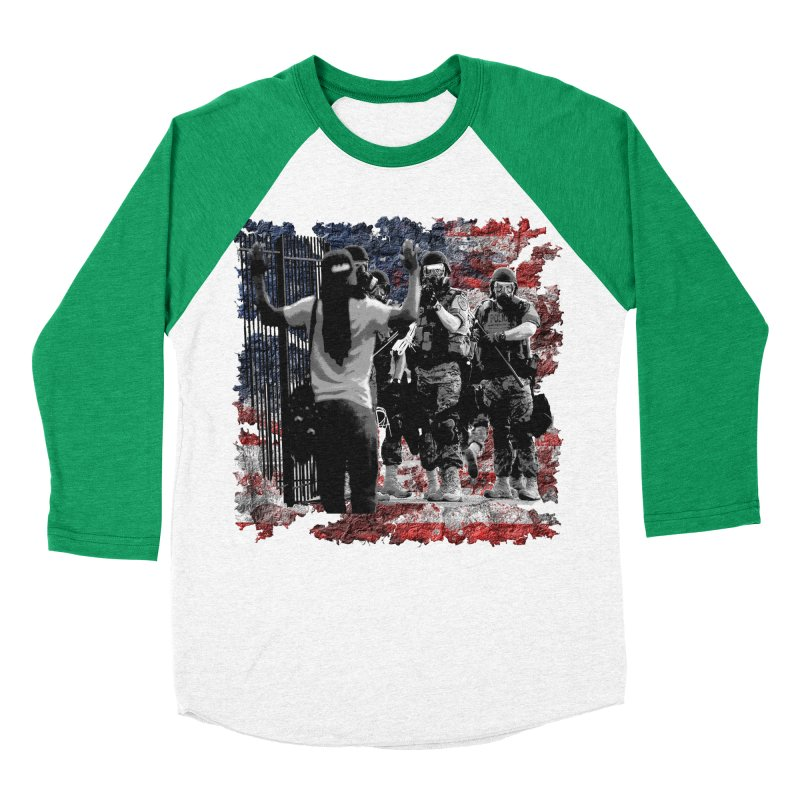 BROKEN NATION? Women's Baseball Triblend T-Shirt by Paparaw's T-Shirt Design
