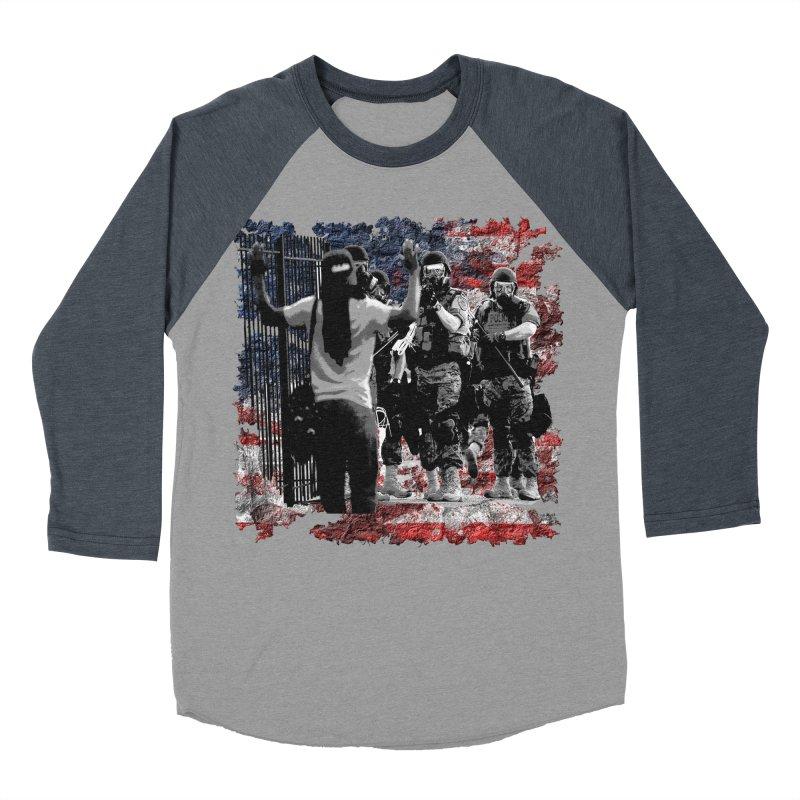 BROKEN NATION? Men's Baseball Triblend T-Shirt by Paparaw's T-Shirt Design