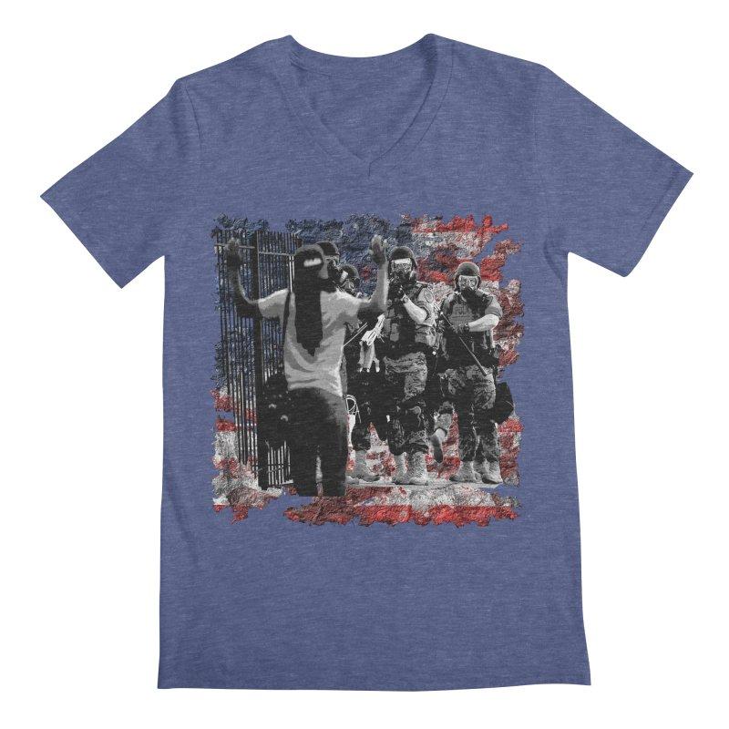 BROKEN NATION? Men's V-Neck by Paparaw's T-Shirt Design