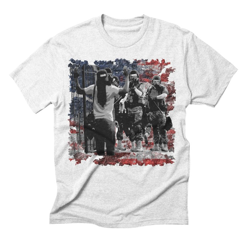 BROKEN NATION? Men's Triblend T-shirt by Paparaw's T-Shirt Design
