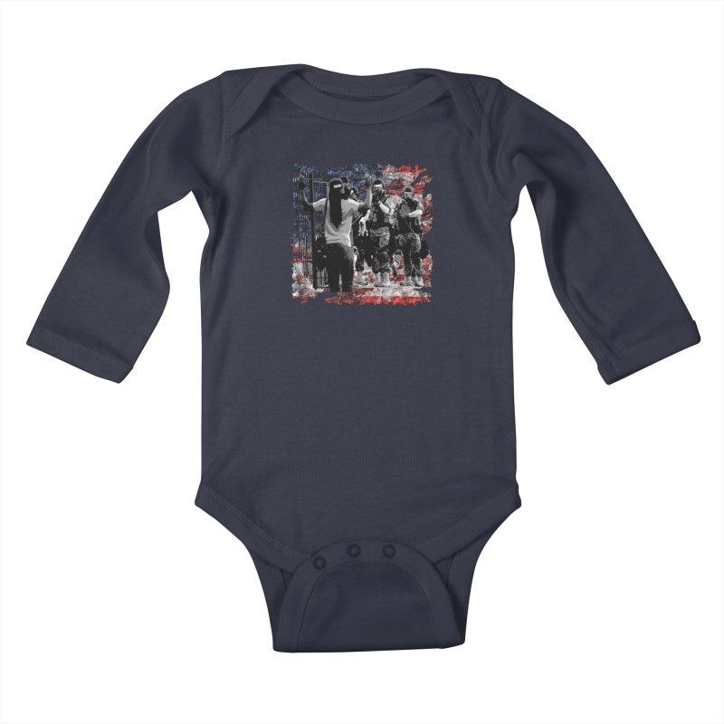 BROKEN NATION? Kids Baby Longsleeve Bodysuit by Paparaw's T-Shirt Design