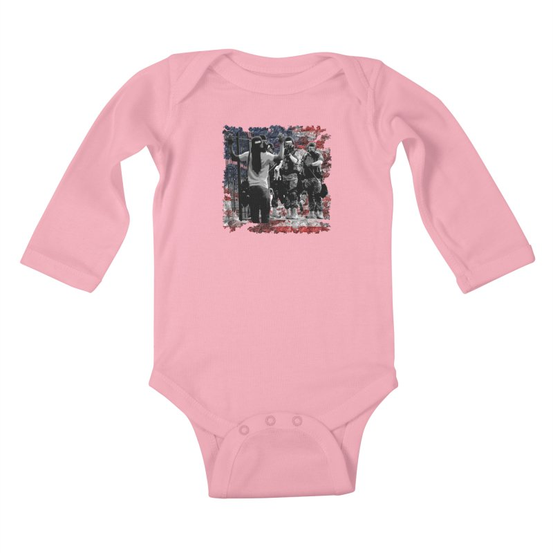BROKEN NATION? Kids Baby Longsleeve Bodysuit by Paparaw's T-Shirt Design
