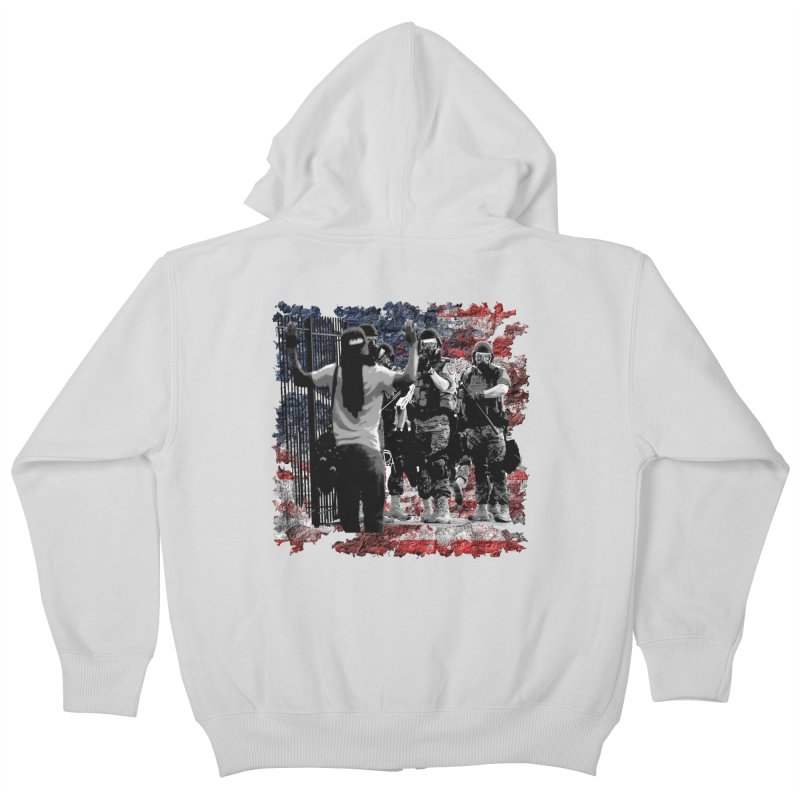 BROKEN NATION? Kids Zip-Up Hoody by Paparaw's T-Shirt Design