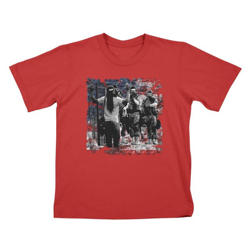 BROKEN NATION? Kids T-shirt by Paparaw's T-Shirt Design