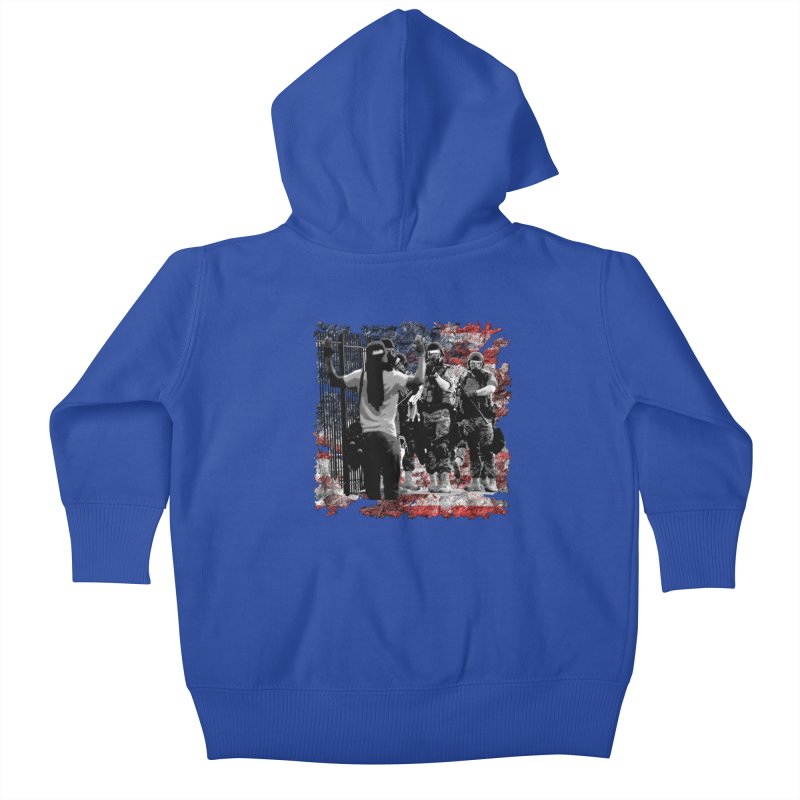BROKEN NATION? Kids Baby Zip-Up Hoody by Paparaw's T-Shirt Design