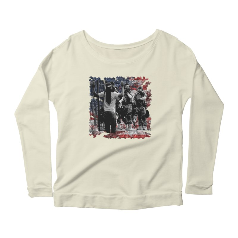 BROKEN NATION? Women's Longsleeve Scoopneck  by Paparaw's T-Shirt Design