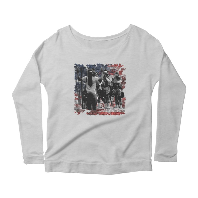 BROKEN NATION? Women's Longsleeve Scoopneck  by Paparaw's T-Shirt Design