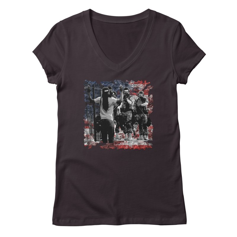 BROKEN NATION? Women's V-Neck by Paparaw's T-Shirt Design