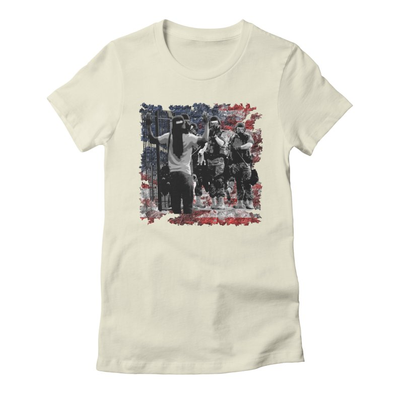 BROKEN NATION? Women's Fitted T-Shirt by Paparaw's T-Shirt Design