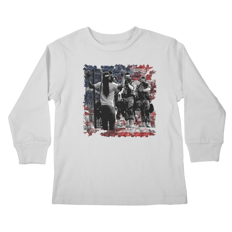 BROKEN NATION? Kids Longsleeve T-Shirt by Paparaw's T-Shirt Design