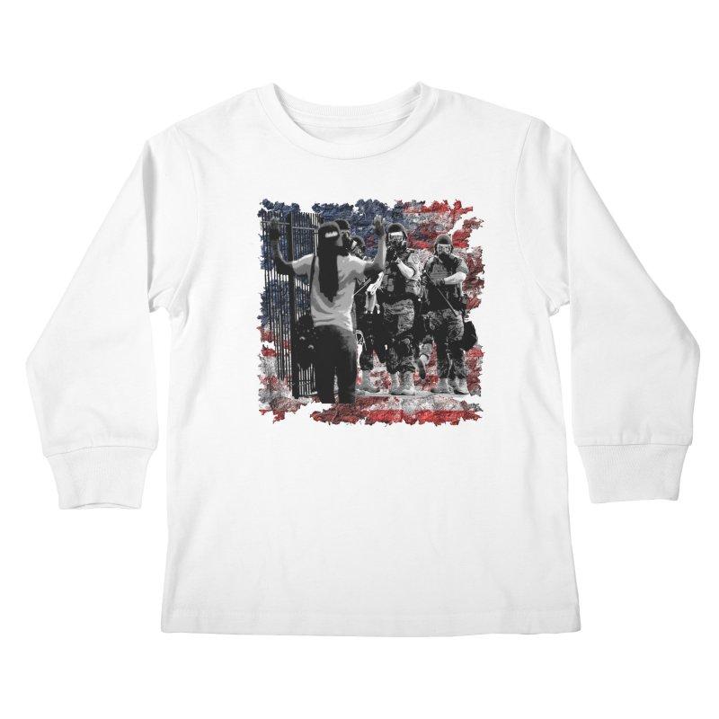 BROKEN NATION? Kids Longsleeve T-Shirt by Paparaw's T-Shirt Design