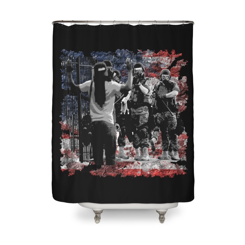 BROKEN NATION? Home Shower Curtain by Paparaw's T-Shirt Design