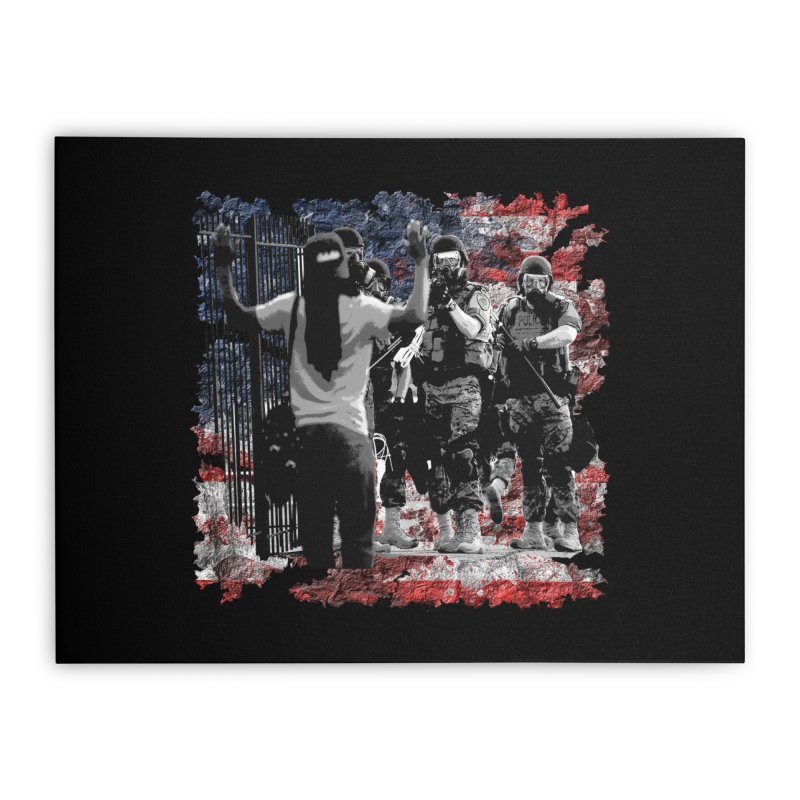 BROKEN NATION? Home Stretched Canvas by Paparaw's T-Shirt Design