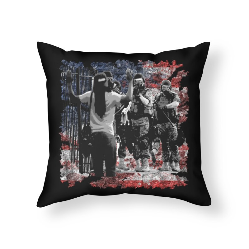 BROKEN NATION? Home Throw Pillow by Paparaw's T-Shirt Design