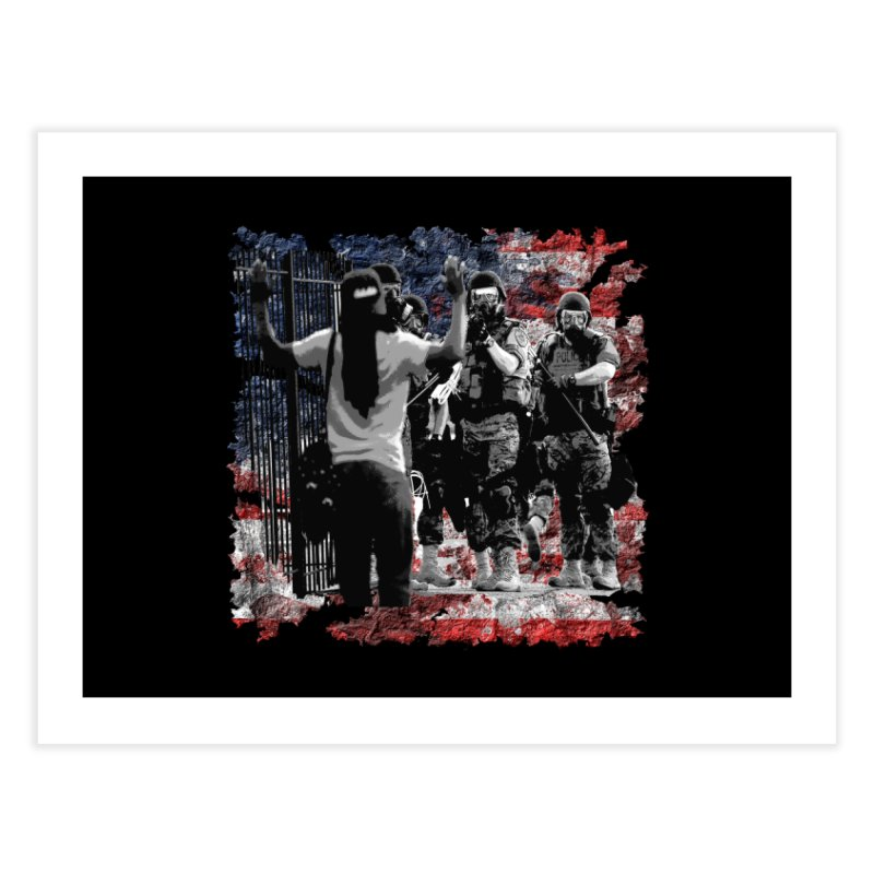BROKEN NATION? Home Fine Art Print by Paparaw's T-Shirt Design