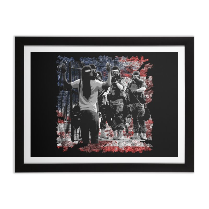 BROKEN NATION? Home Framed Fine Art Print by Paparaw's T-Shirt Design
