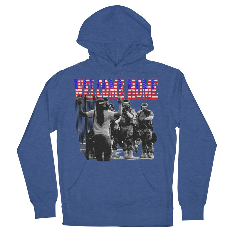 Welcome Home USA 2 Women's Pullover Hoody by Paparaw's T-Shirt Design